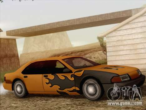 Fortune Sedan for GTA San Andreas inner view