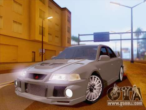 Mitsubishi Lancer Evolution VI LE for GTA San Andreas back view