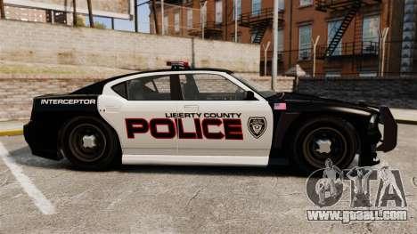 GTA V Bravado Buffalo Supercharged LCPD for GTA 4 left view