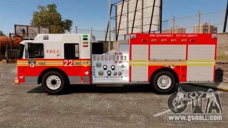 Firetruck FDLC [ELS] for GTA 4 left view