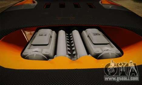 Bugatti Veyron Super Sport World Record Edition for GTA San Andreas upper view