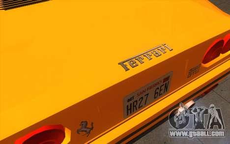 Ferrari 328 GTB for GTA San Andreas back view