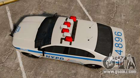 GTA V Police Vapid Interceptor NYPD for GTA 4 right view