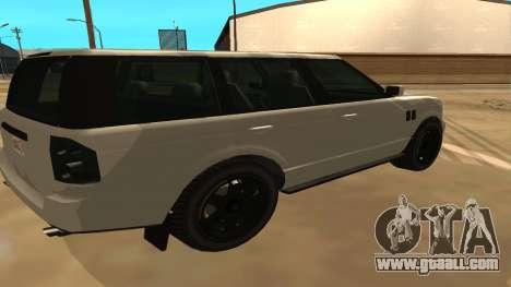 Baller GTA 5 for GTA San Andreas back left view