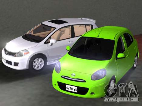 Nissan Tiida for GTA Vice City bottom view
