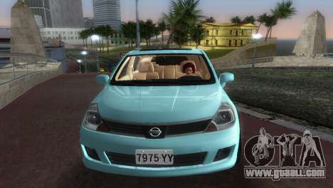 Nissan Tiida for GTA Vice City back view