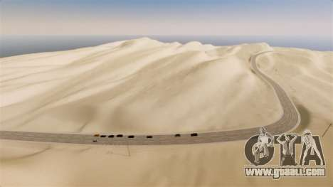 Location Of Desert Highway for GTA 4 second screenshot