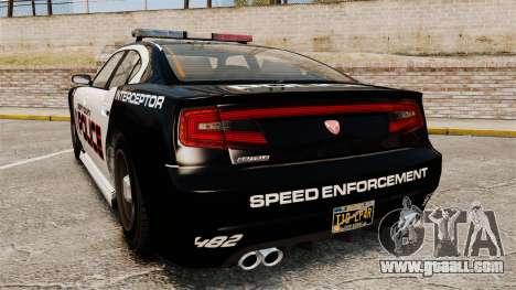 GTA V Bravado Buffalo Supercharged LCPD for GTA 4 back left view