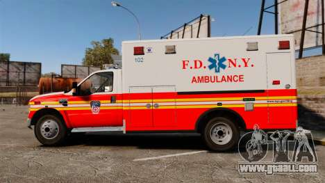 Ford F-350 FDNY Ambulance [ELS] for GTA 4 left view