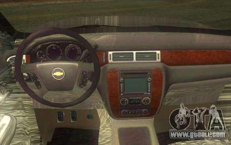 Chevrolet Cheyenne LT 2012 for GTA San Andreas inner view