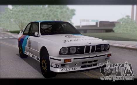 BMW M3 E30 Racing Version for GTA San Andreas