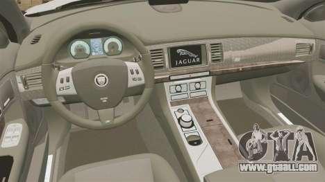 Jaguar XFR 2010 British Police [ELS] for GTA 4 inner view