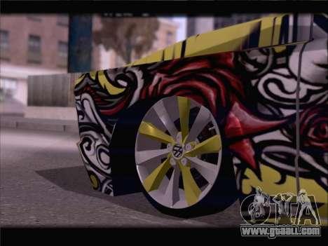 New Slamvan for GTA San Andreas bottom view