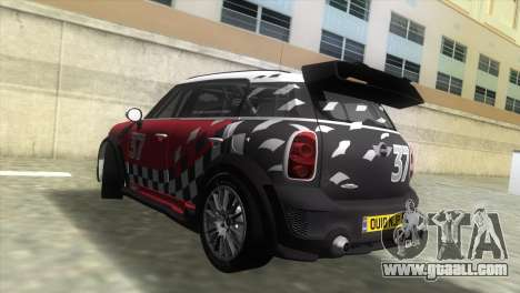 Mini Countryman WRC for GTA Vice City left view