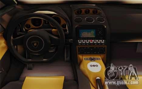 Lamborghini Gallardo SE for GTA San Andreas inner view