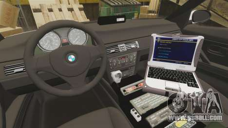 BMW 330i Metropolitan Police [ELS] for GTA 4 back view