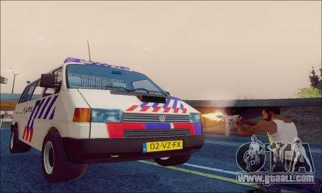 Volkswagen T4 Politie for GTA San Andreas inner view