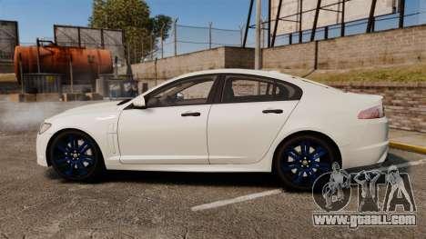 Jaguar XFR 2010 Police Unmarked [ELS] for GTA 4 left view