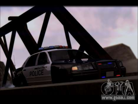 Ford Crown Victoria 2005 Police for GTA San Andreas inner view