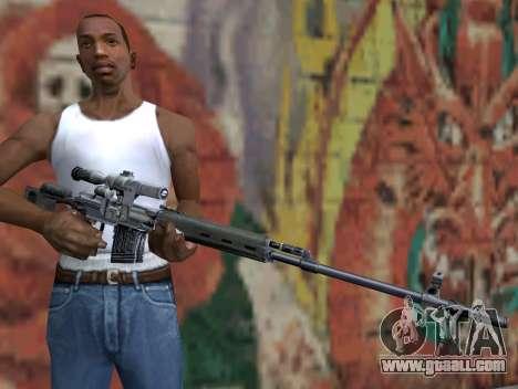 Sniper rifle of S.T.A.L.K.E.R. for GTA San Andreas third screenshot