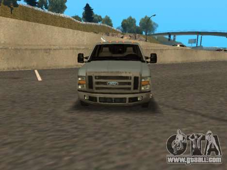 Ford F-350 for GTA San Andreas back left view