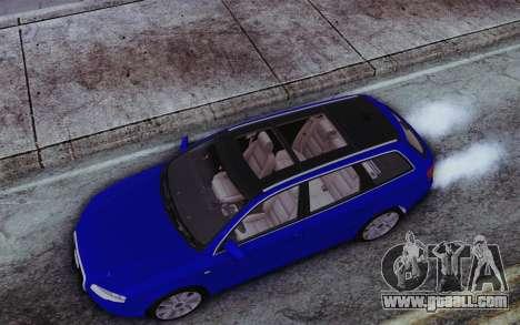 Audi A4 2005 Avant 3.2 Quattro Open Sky for GTA San Andreas back view