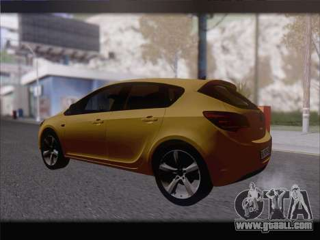 Opel Astra J 2011 for GTA San Andreas right view