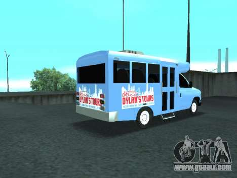Ford Shuttle Bus for GTA San Andreas back left view