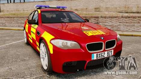 BMW M5 West Midlands Fire Service [ELS] for GTA 4