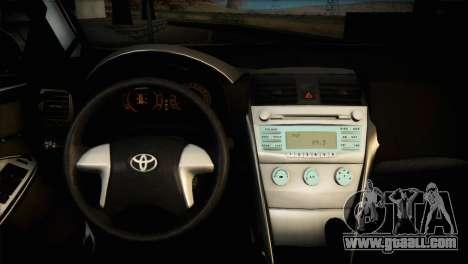Toyota Corolla 2012 for GTA San Andreas inner view