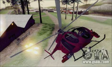 Buzzard Attack Chopper from GTA 5 for GTA San Andreas upper view