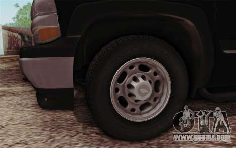 Chevrolet Suburban FBI for GTA San Andreas right view