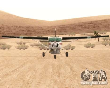Cessna 208B Grand Caravan for GTA San Andreas back view