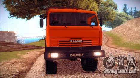 KAMAZ 54115 timber carrier for GTA San Andreas left view