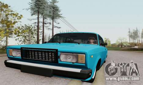 VAZ 2107 Coupe for GTA San Andreas inner view