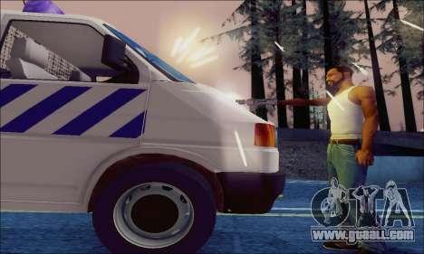 Volkswagen T4 Politie for GTA San Andreas side view