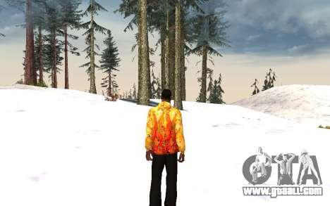 Sochi 2014 jacket for GTA San Andreas third screenshot