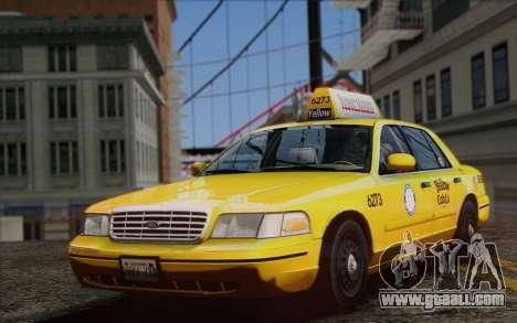 Ford Crown Victoria LA Taxi for GTA San Andreas right view