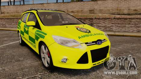Ford Focus ST Estate 2012 [ELS] London Ambulance for GTA 4