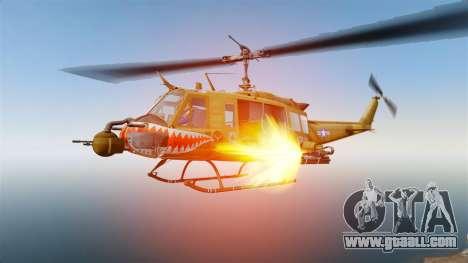 Bell UH-1 Iroquois v2.0 Gunship [EPM] for GTA 4 upper view