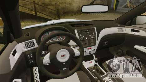 Subaru Impreza 2010 for GTA 4 side view