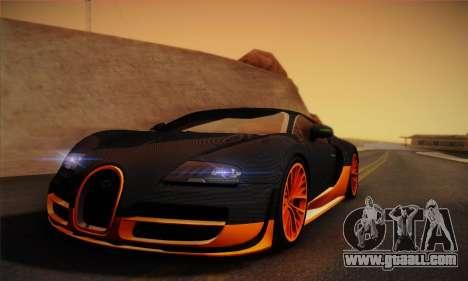 Bugatti Veyron Super Sport World Record Edition for GTA San Andreas back left view