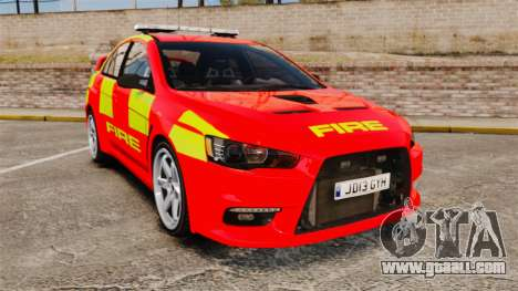 Mitsubishi Lancer Evo X Fire Department [ELS] for GTA 4