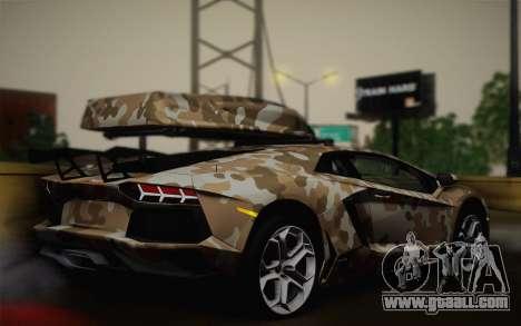 Lamborghini Aventador LP 700-4 Camouflage for GTA San Andreas left view