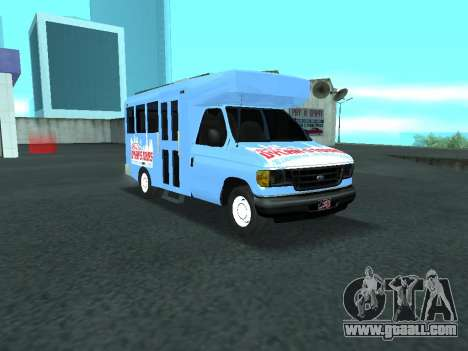 Ford Shuttle Bus for GTA San Andreas inner view