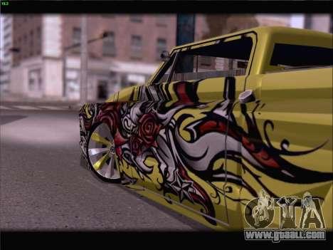 New Slamvan for GTA San Andreas upper view