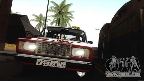 VAZ 2107 Bombilla for GTA San Andreas back view