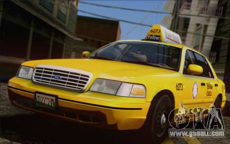 Ford Crown Victoria LA Taxi for GTA San Andreas side view