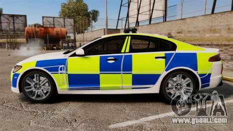 Jaguar XFR 2010 British Police [ELS] for GTA 4 left view