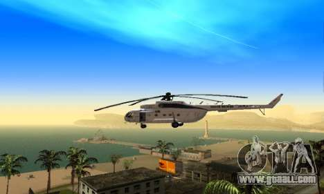 MI 8 UN (United Nations) for GTA San Andreas back left view